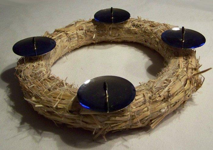 4 kerzenhalter f r kr nze zum einstecken 6 cm adventskranz. Black Bedroom Furniture Sets. Home Design Ideas