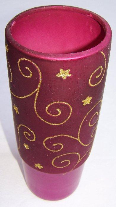 deko gef e vasen f r gestecke kerzen blumen 5 gr en lila gold ebay. Black Bedroom Furniture Sets. Home Design Ideas
