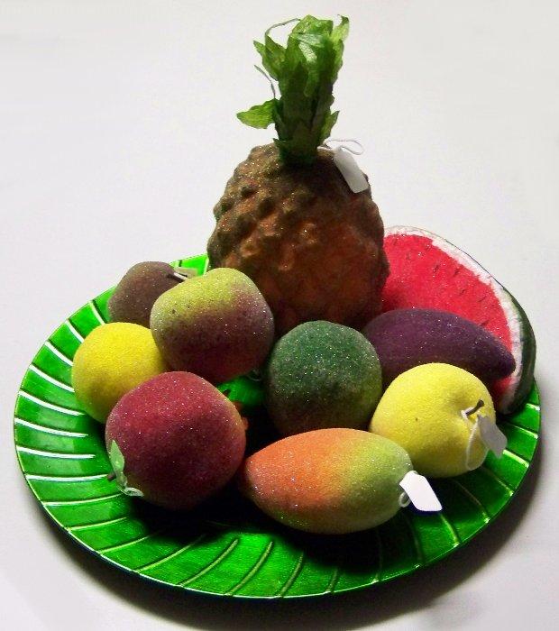 10 Teiliges Deko Obst Set Obstkorb Obstteller Innendeko