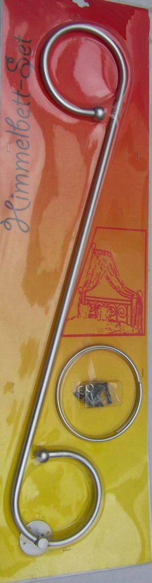 himmelbett set halterung baldachin stange etwa 80 cm mit halterungsringen ebay. Black Bedroom Furniture Sets. Home Design Ideas